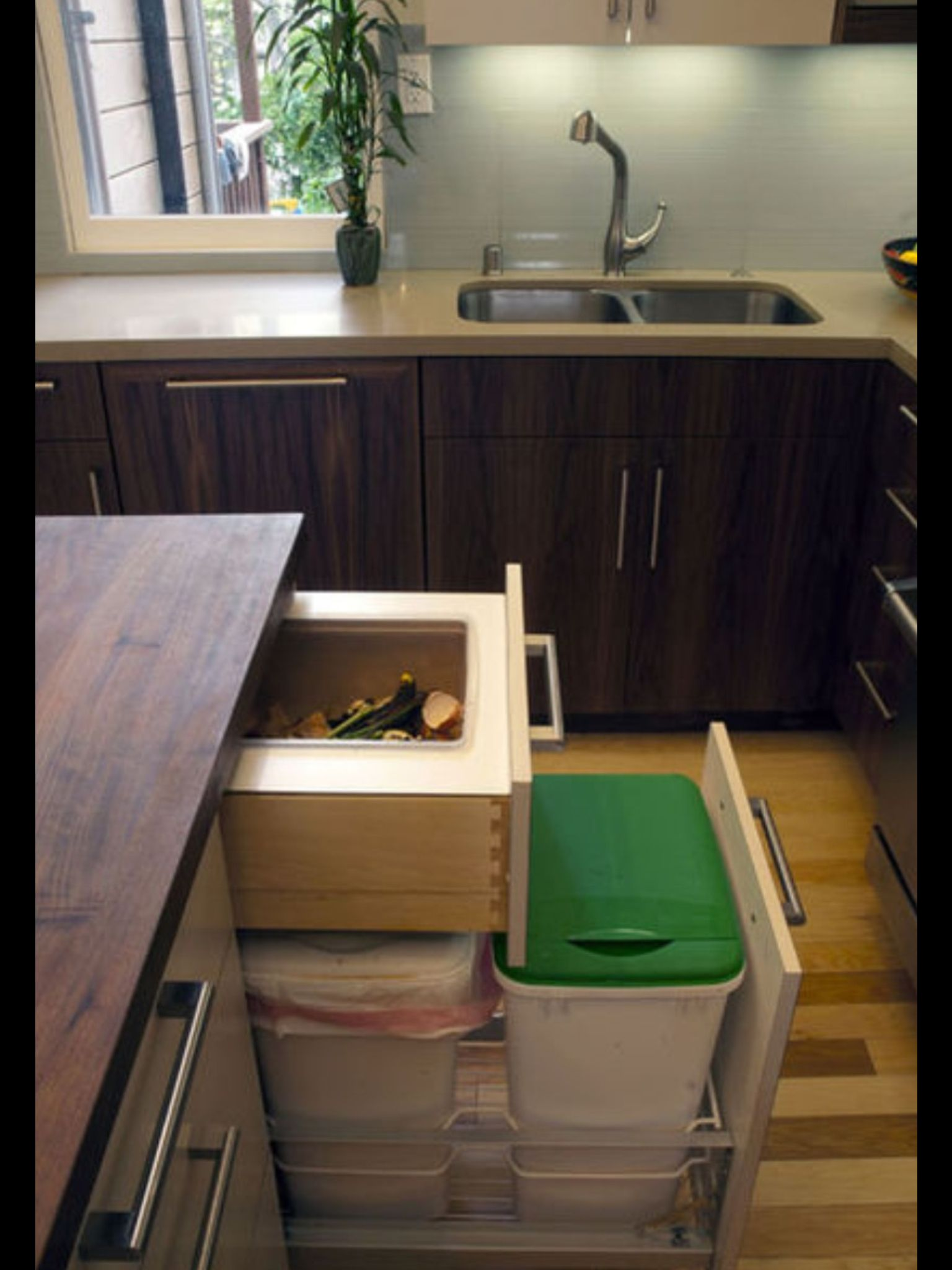 trash drawer decoration slide dual drawers pull out with double cabinets cab can kitchen track cabinet hardware for garbage
