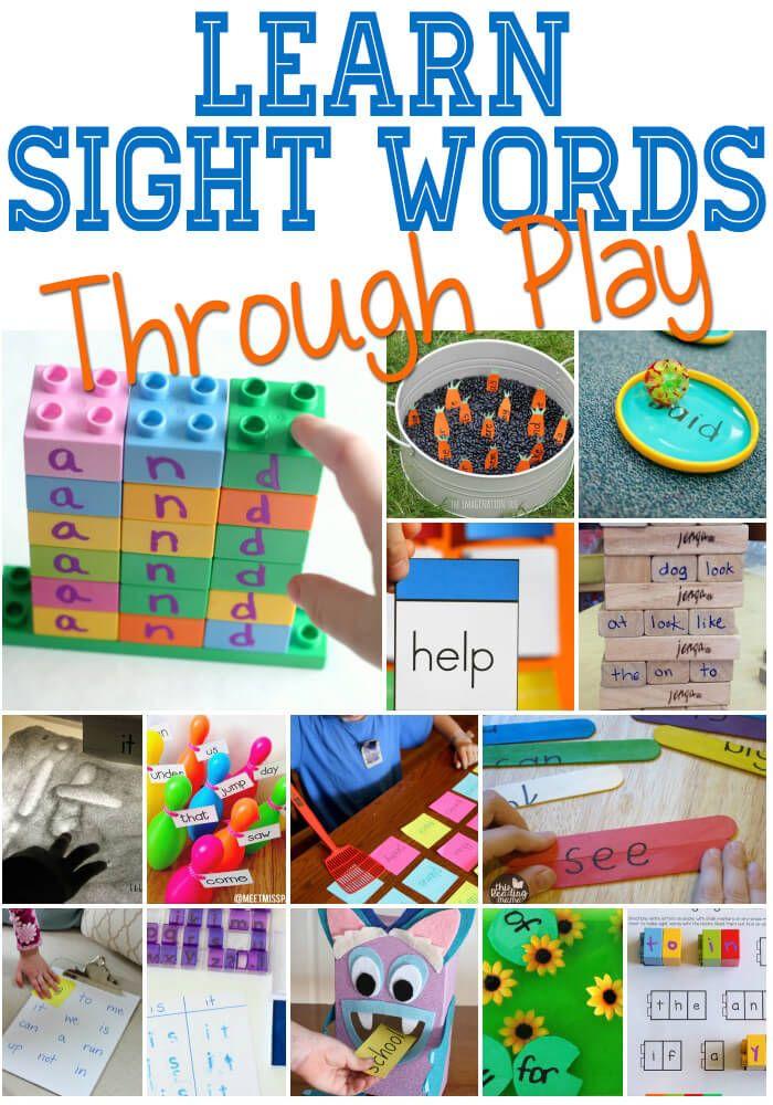 HandsOn Sight Word Activities Kindergarten activities