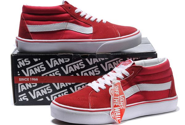 Vans Authentic Red Suede Valentines Day Pictures Vans Authentic Fun Valentine for your #skaterkid #skateboard #valentine #skatertrainer