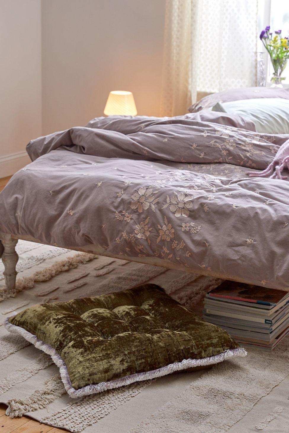 Brigette Velvet Floor Pillow Urban Outfitters in 2020