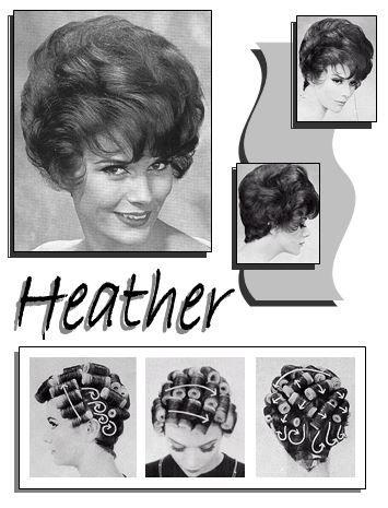 Heather Glamorous Hair Bouffant Hair Sleep In Hair Rollers