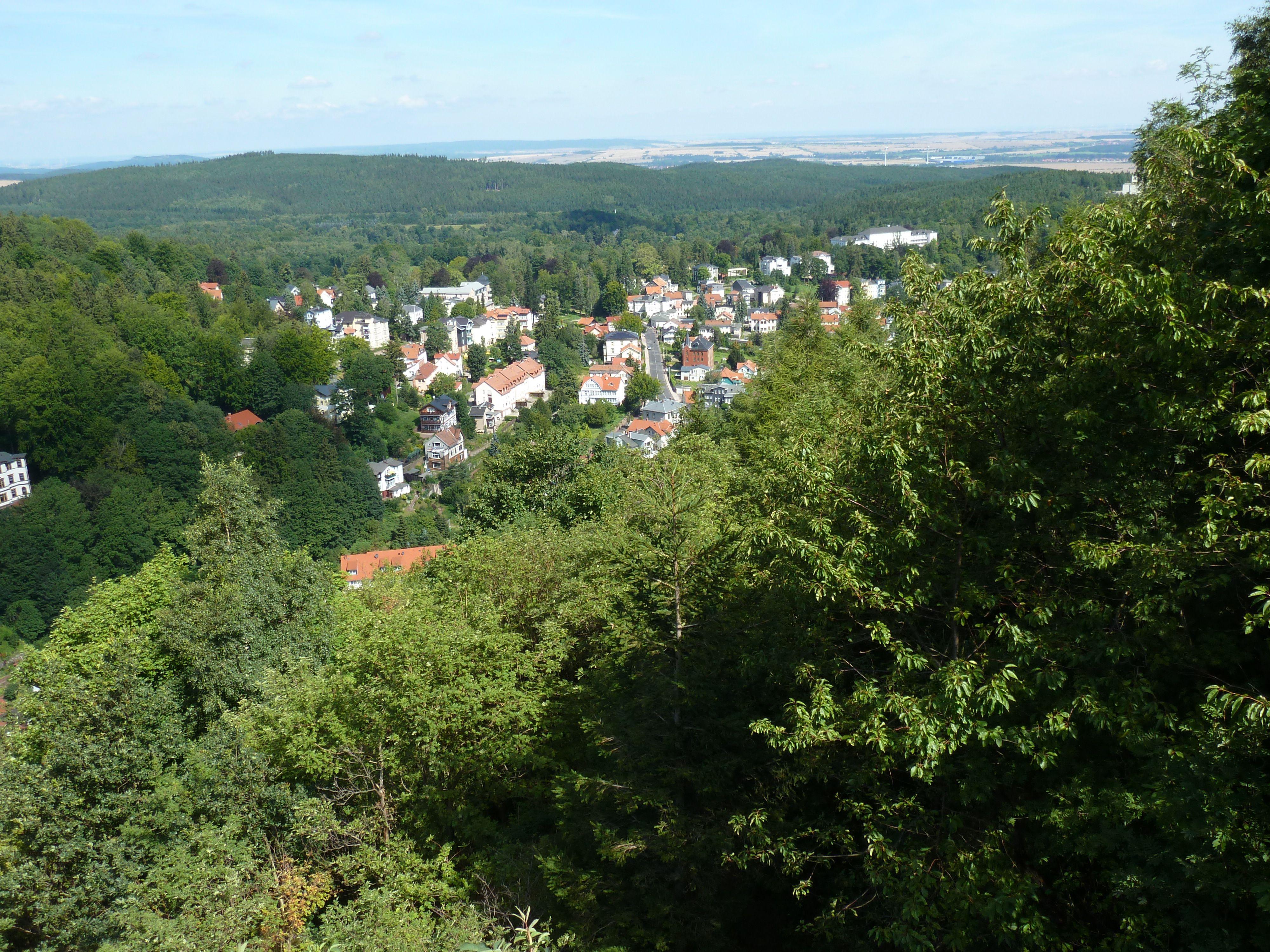 Der Aussichtspunkt oberhalb von Friedrichroda nahe des Gottlobtempels. Foto: Claudia Klinger