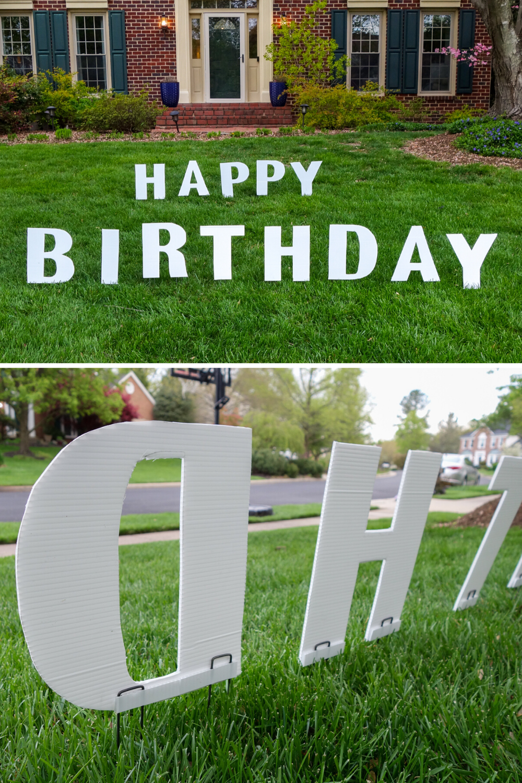 Diy Birthday Yard Signs South Lumina Style Birthday Yard Signs Diy Birthday Yard Signs Happy Birthday Yard Signs