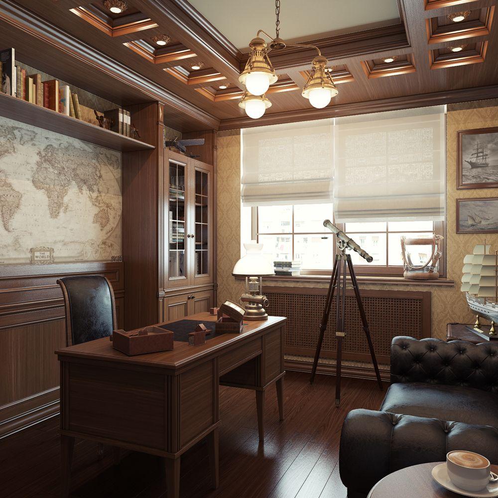 Кабинет в частном доме фото