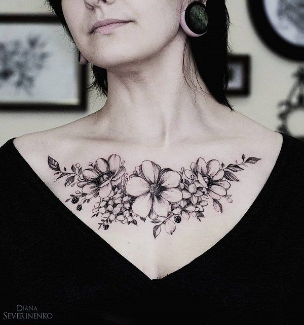 100 Nice Chest Tattoo Ideas Cuded Chest Tattoos For Women Chest Tattoo Flowers Tattoos