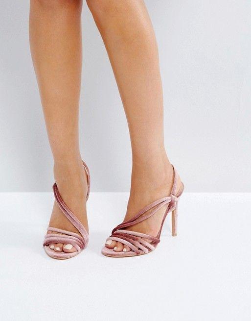 e857dc088e Public Desire Seek Blush Velvet Strappy Heeled Sandals | Wedding ...