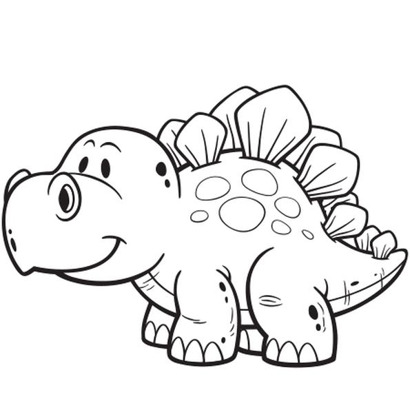 Coloriage dinosaure facile en ligne gratuit imprimer - Coloriage de dinosaures ...