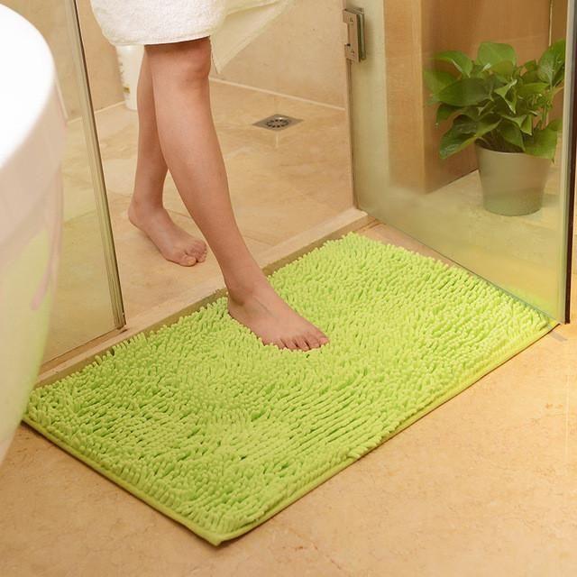 Soft Microfiber Shaggy Non Slip Absorbent Bath Mat Bathroom Rugs