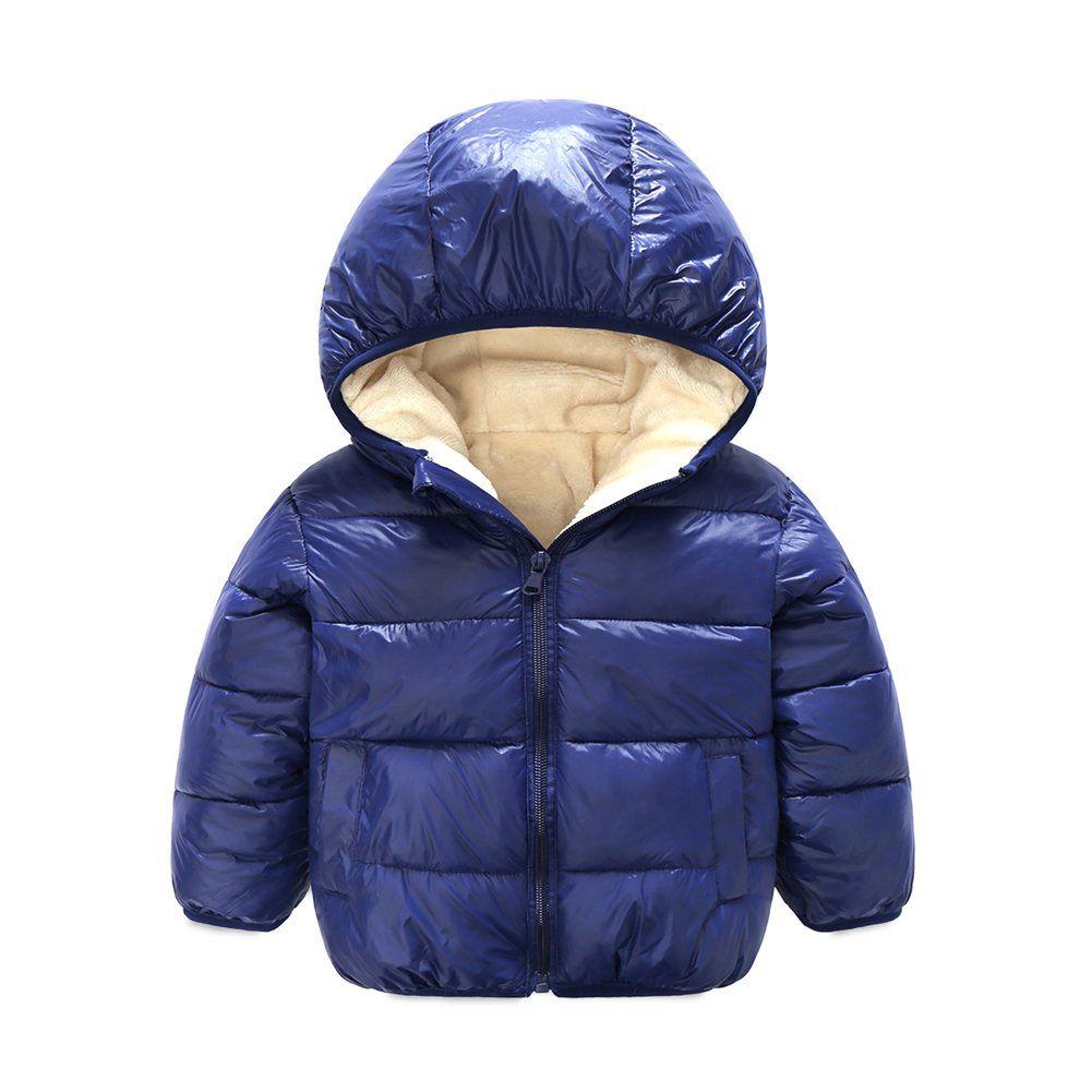Children Winter Lightweight Puffer Jakcet Coat Thick Fleece Inside With Hooded 6 Colors High Quality Material Sof Kids Outerwear Boys Hoodies Baby Boy Jackets [ 1001 x 1001 Pixel ]