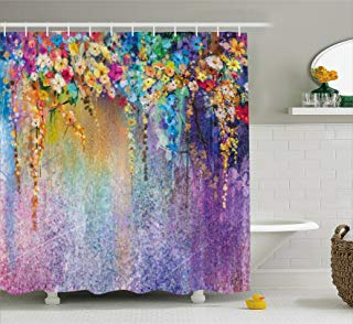 Amazon Com Iridescent Shower Curtain 4 Stars Up Prime