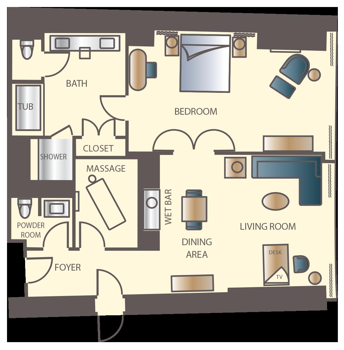 Encore Parlor Suite Floorplan Hotel Suite Luxury Hotel Suite Floor Plan Wynn Las Vegas Rooms