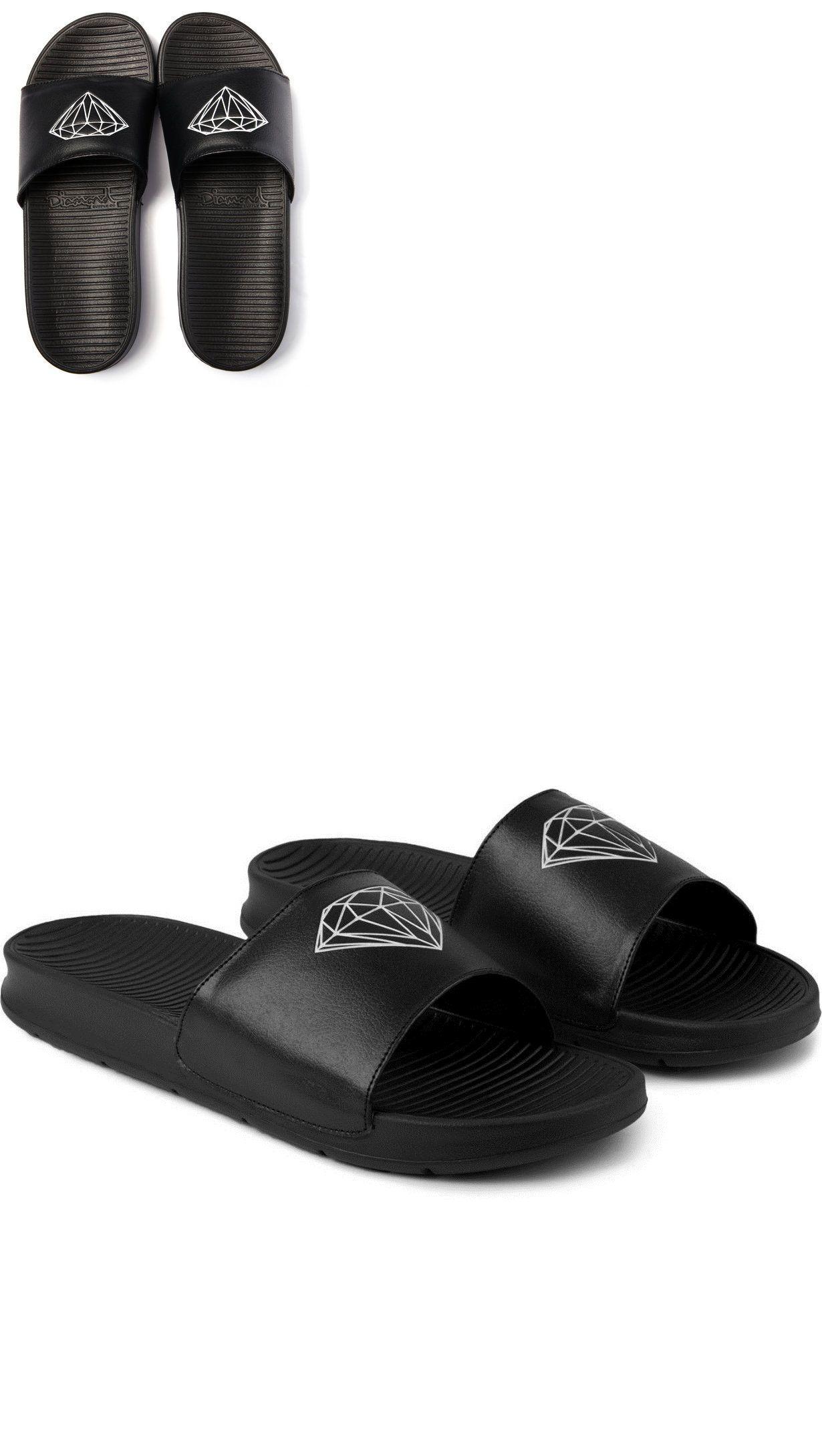 2a425d93b Sandals and Flip Flops 11504: Men S Guys Diamond Supply Fairfax Slides  Sandals Flip Flops Brand New $50 Black -> BUY IT NOW ONLY: $36.99 on eBay!