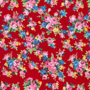 Vintage Flowers Rose and Hubble Fabric