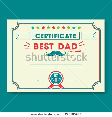 Happy fathers day card vintage retro worlds best dad certificate happy fathers day card vintage retro worlds best dad certificate template vector design yelopaper Gallery
