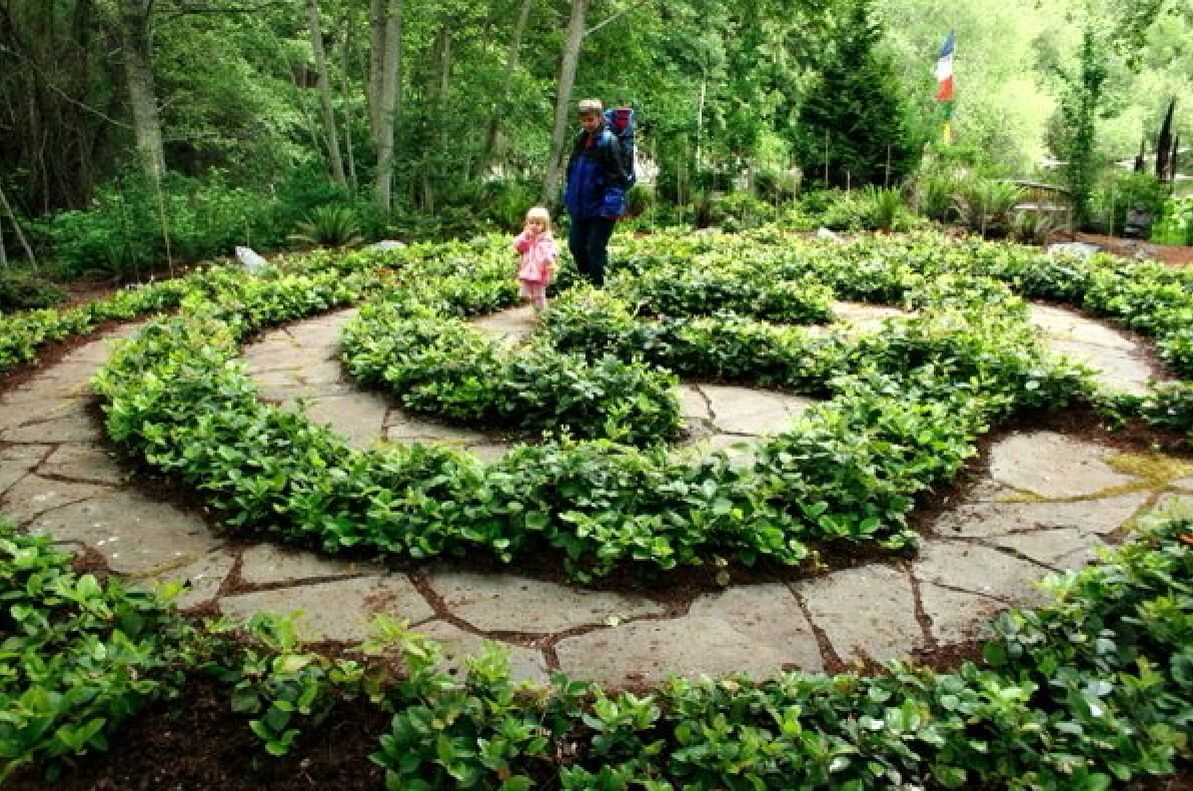 garden idea labyrinth