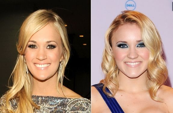 Carrie Underwood vs. Emily Osment  Looks like country crooner Carrie Underwood has a mini-me in Disney actress Emily Osment.