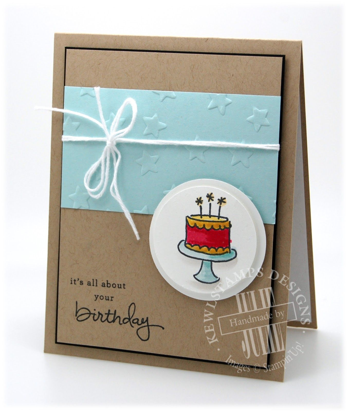 Quick Birthday Card Using Endless Birthdway Wishes Stamp Set From Stampin'Up!
