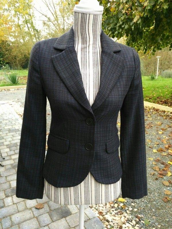 558e3cbc8f Veste bleue Mango T36 | Vêtements femmes tailles S - 34 - 36 | Veste ...