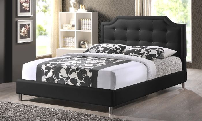 Modern Upholstered Tufted Platform Beds Upholstered