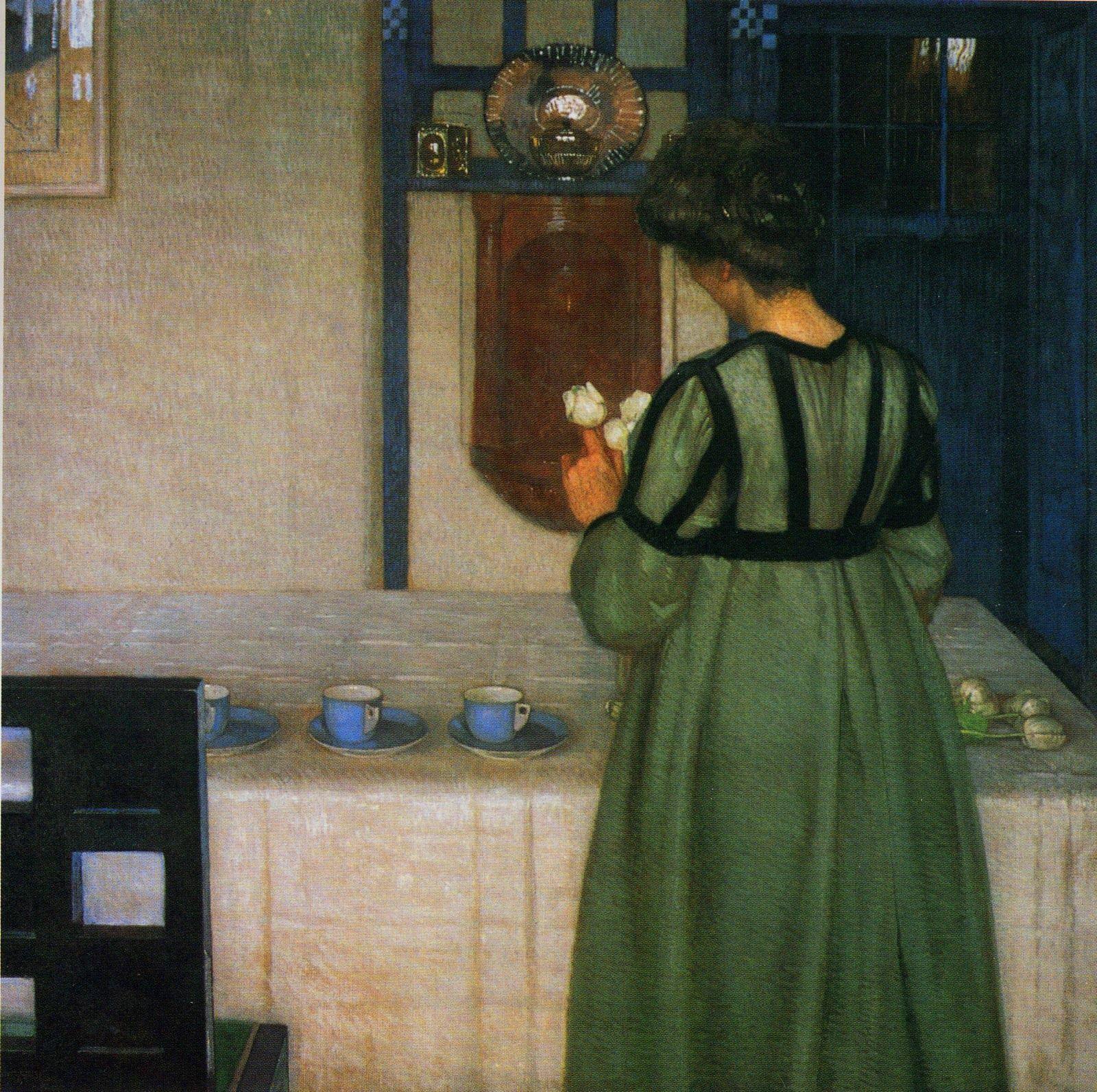 At The Sideboard, 1903 by Carl Moll (Austrian 1861-1945) | Art, Art  history, Interior art