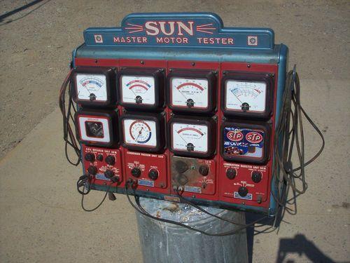 Vintage sun master motor tester engine diagnostic tuning for Motor vehicle diagnostic machine