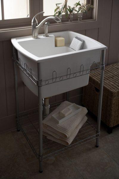 splash galleries sterling 995 u latitude laundry sink and stand raleigh nc kitchen - Kitchen Sink Stands