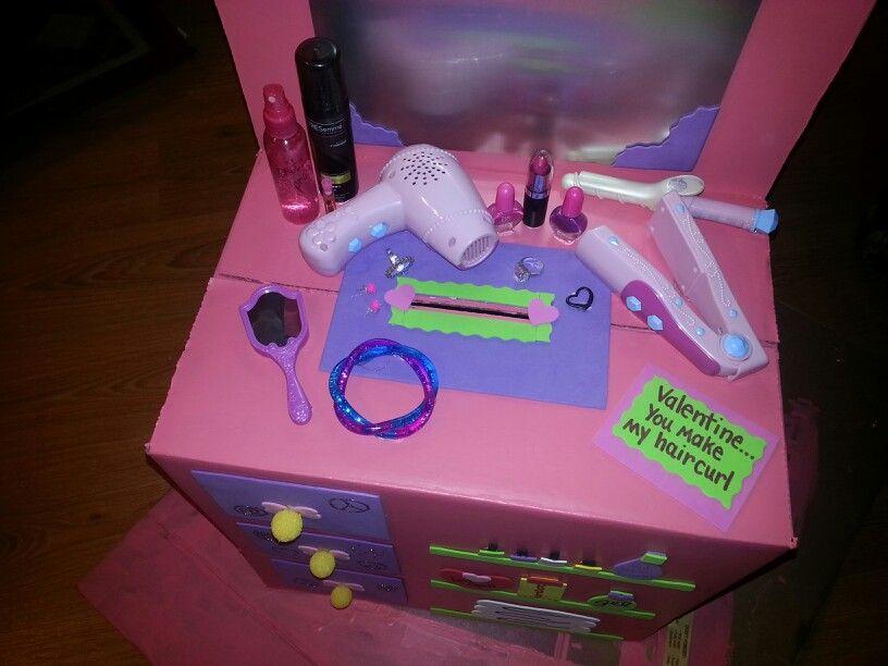 Vanity Valentine Box for my little girlVanity Valentine Box for my little girl   Valentine Box Ideas  . Diy Vanity For Little Girl. Home Design Ideas