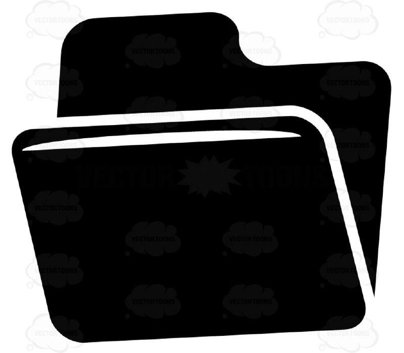 Open Tabbed File Folder Black And White Computer Icon Computer Icon Black And White Folders