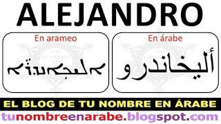 Alejandro En Arameo Nombres En Letras Arabes Nombres En Arabe