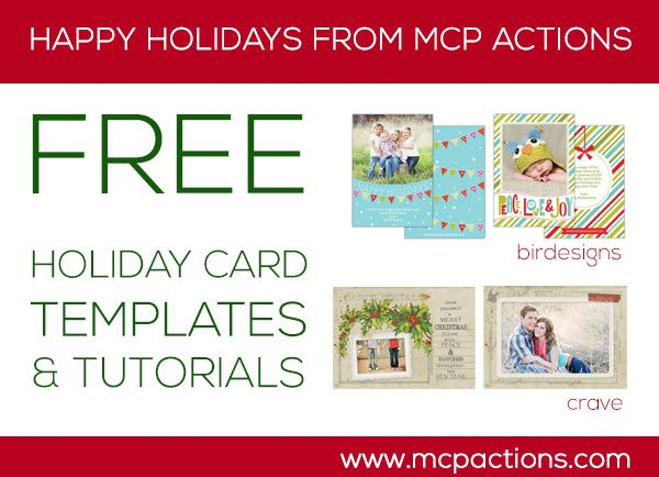 Holiday Gift Ideas For Photographers A Few Free Goodies Photoshop Actions And Lightroom Presets Mcp Actions Joy Holiday Card Xmas Card Template Christmas Card Template