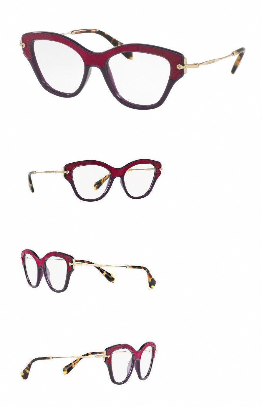 0fcbddee534 Eyeglass Frames 180957  New Miu Miu Mu07ov-U6a1o1 52Mm Wayfarer Women S  Violet Frame