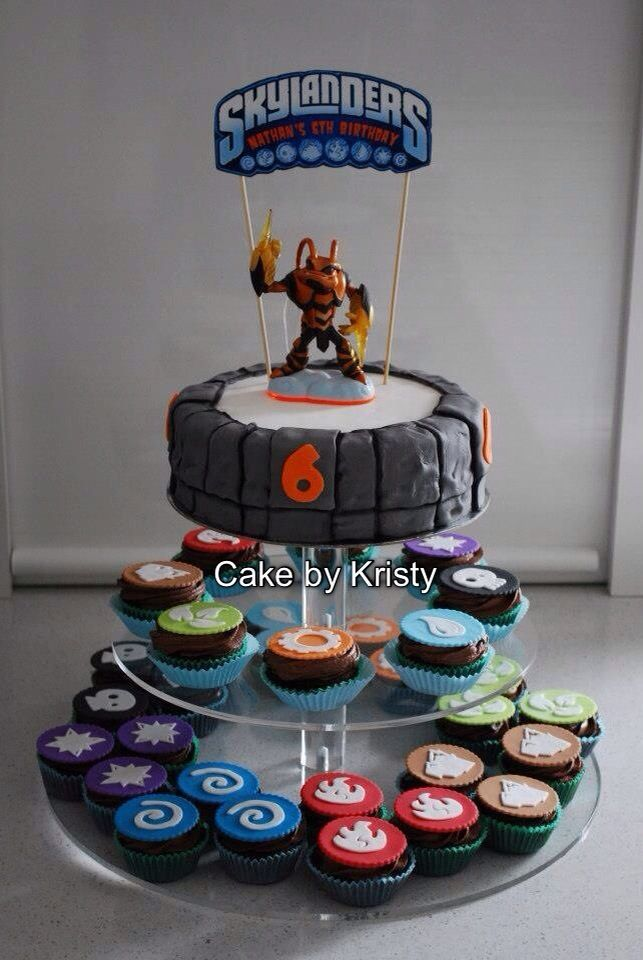 Skylanders Cake and cupcakes for my sons Skylanders party Already