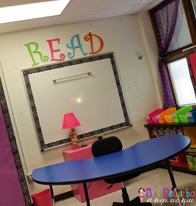 Beautiful, bright colors, inviting...classroom set up for small group. #BacktoSchool