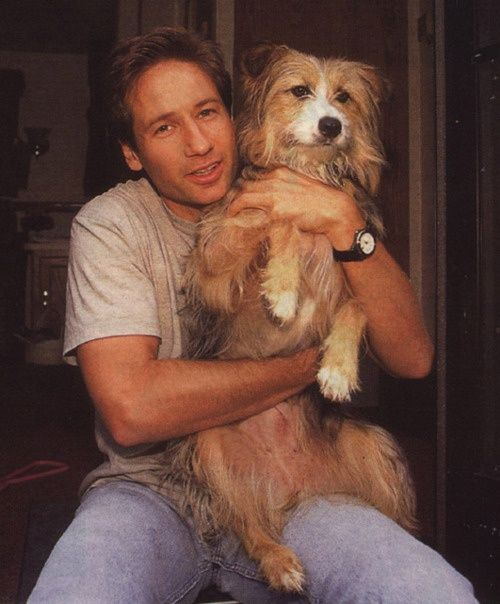 David Duchovny and his dog Blue