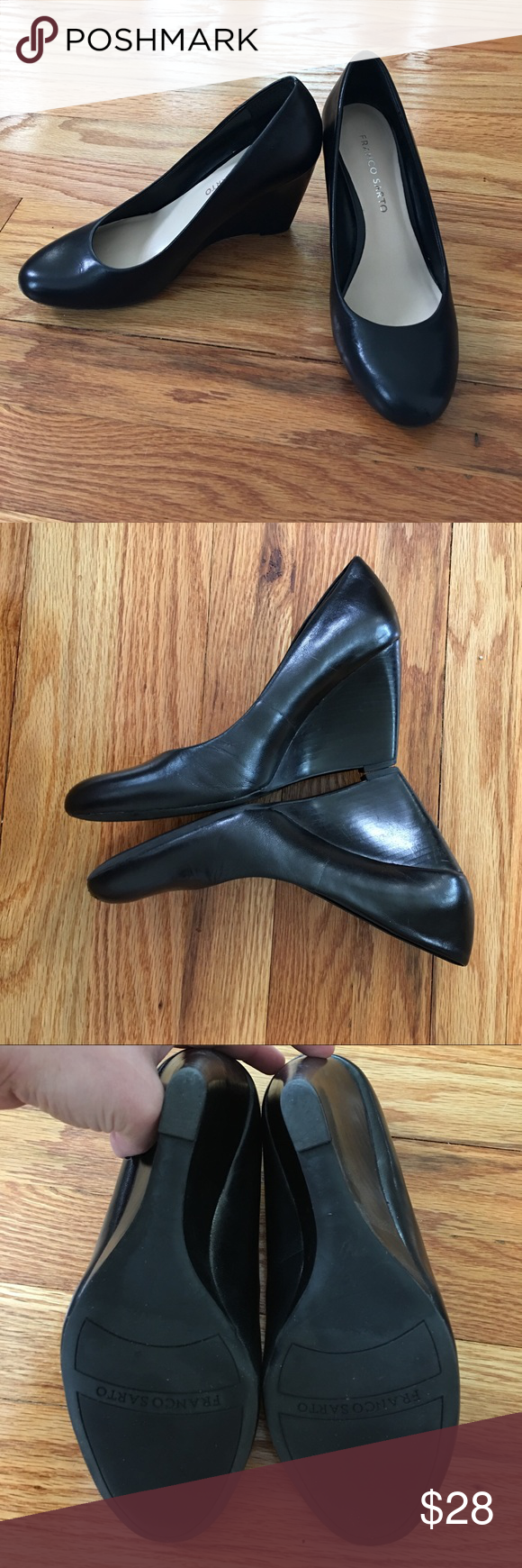 c910c9c8262e Franco Sarto Helio wedge heels Classic Franco Sarto Helio wedge pumps. Good  used condition. Front toe on left heel has a scuff and very minor wear on  back ...