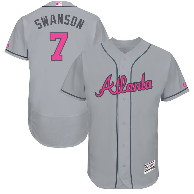 official photos 6b578 3b854 Dansby Swanson Atlanta Braves Majestic Fashion Mother's Day ...