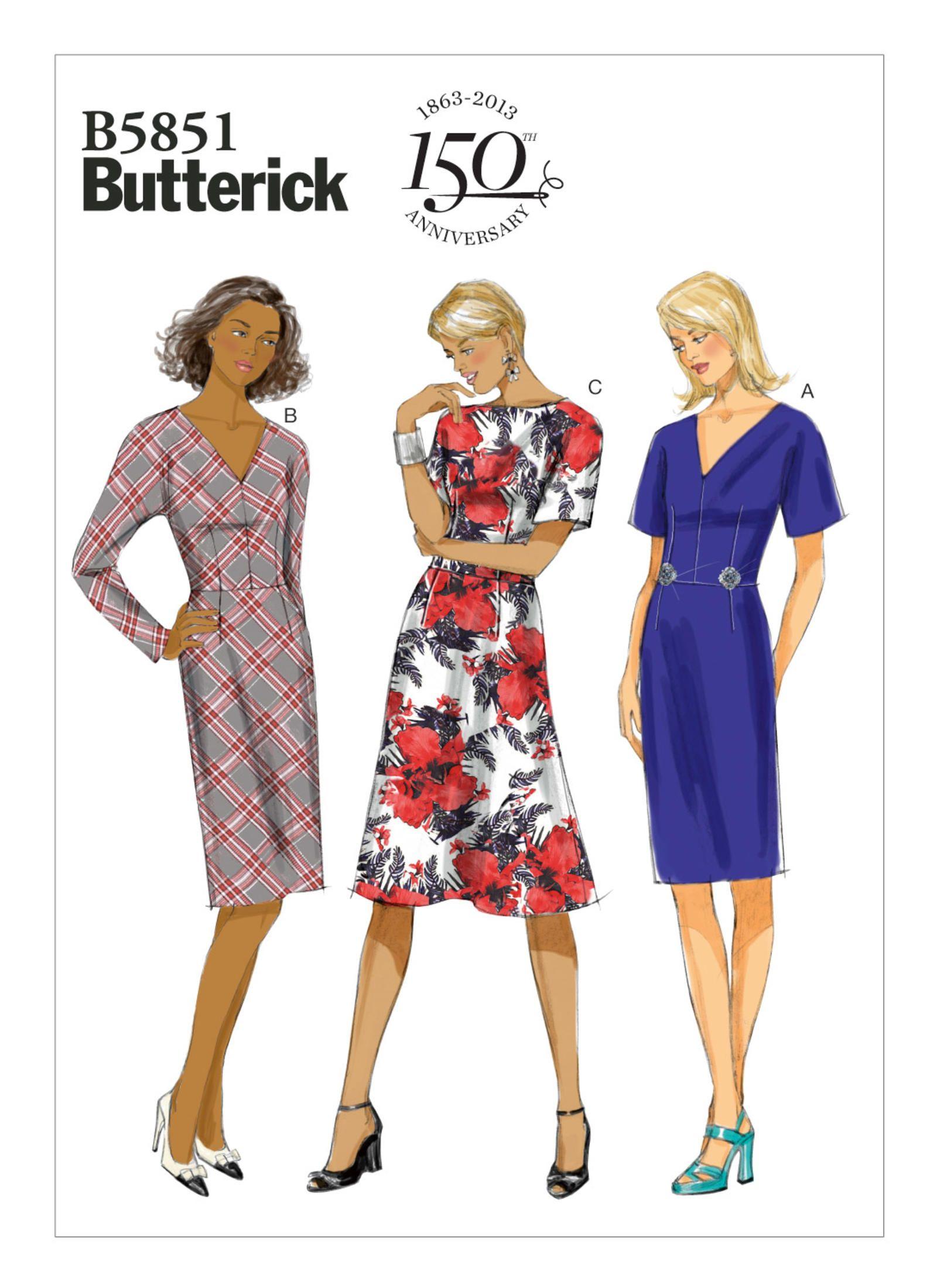 B5851 | Butterick Patterns | Sewing Patterns | patterns/платья ...