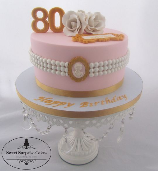Wondrous Classy Birthday Cakes Elegant 80Th Birthday Cake Cake By Rose Personalised Birthday Cards Cominlily Jamesorg