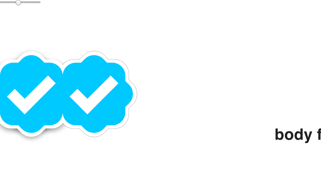 This Badge Takes Inspiration From The Verified Account Seal That Twitter And Instagram Among Others Use One Flat And One With Mat Material Design Design Badge