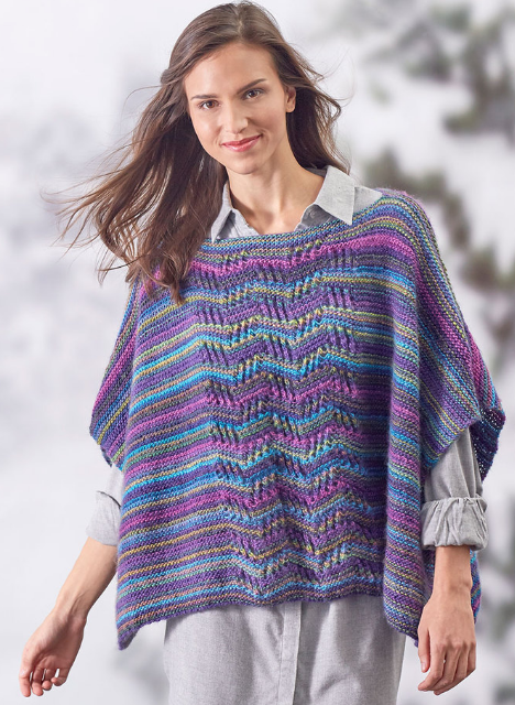Lace Panel Knit Poncho Knit Poncho Pinterest Knitted Poncho