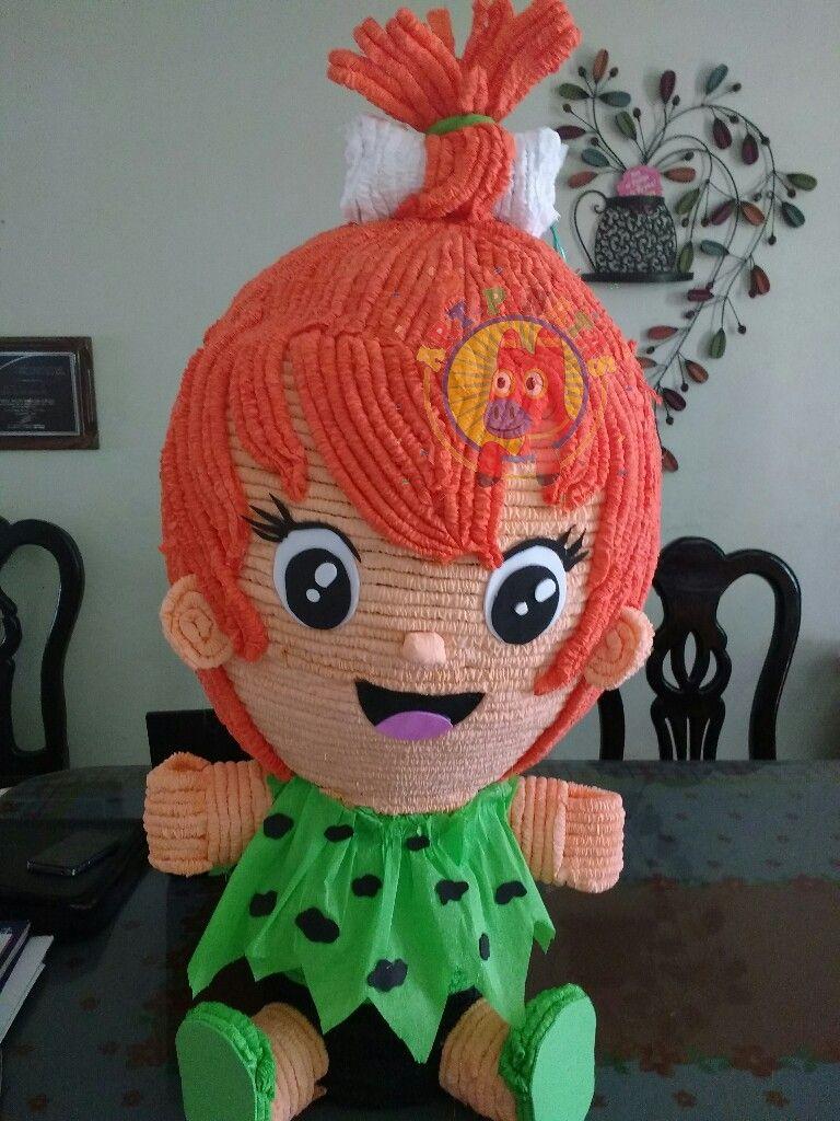 Piñata pebbles Picapiedra.