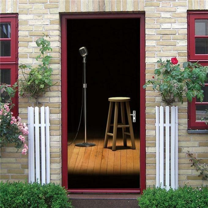 Singing Cabin Mural Self-adhesive Vinyl Decal Home Decor Doo…