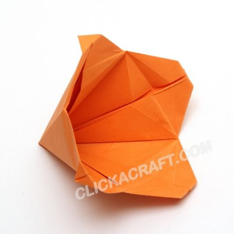 Origami Bell Flower Folding Instructions How To Make An Origami