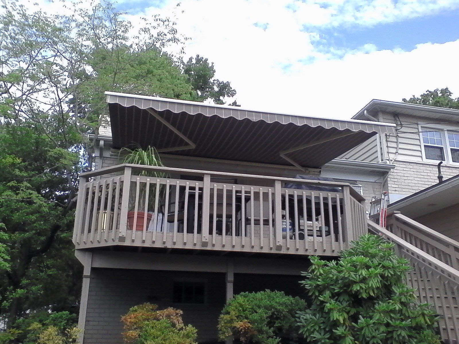 RetractableAwning-Baltimore | Retractable awning, Deck ...