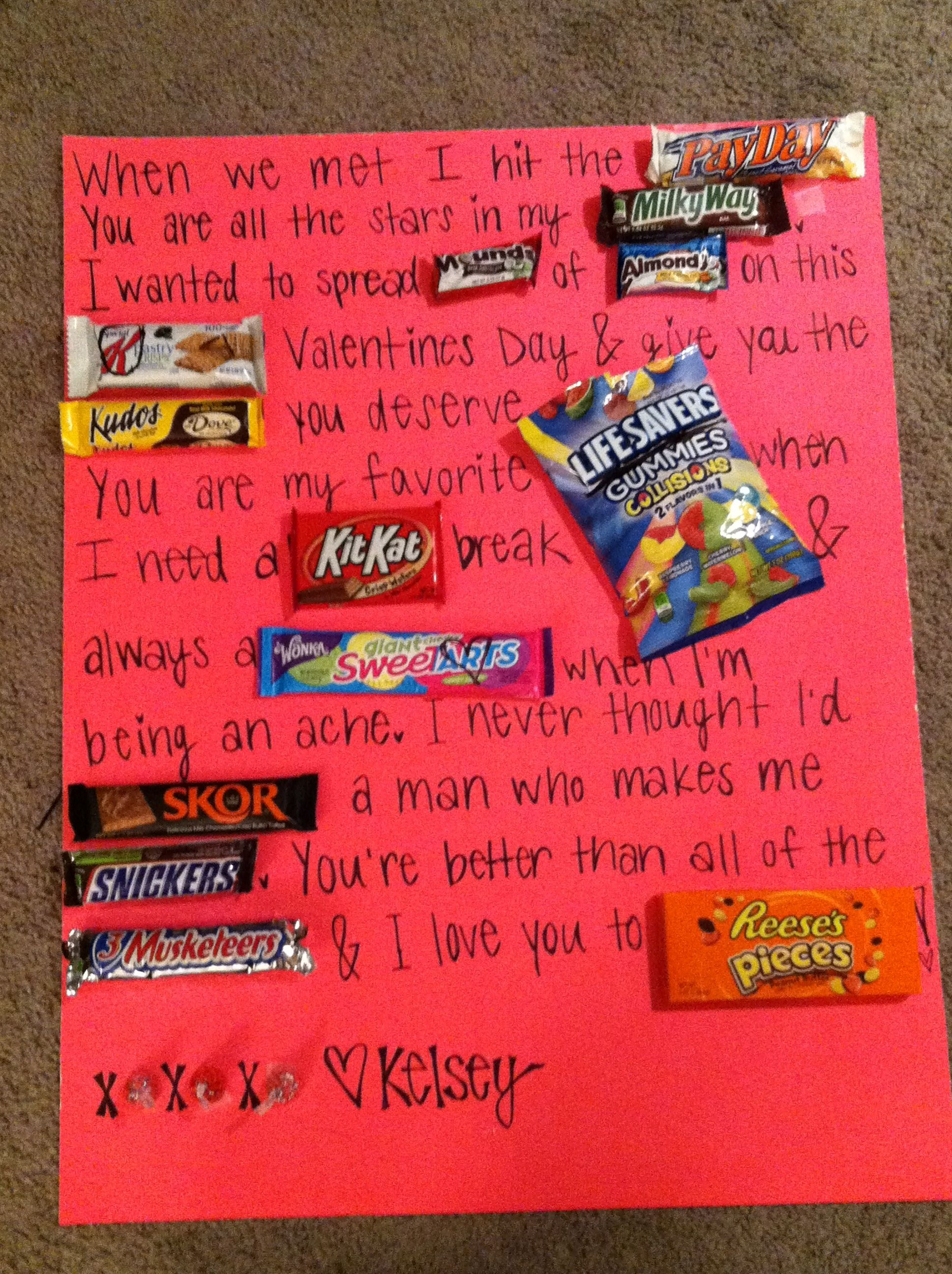 My Valentines candy gram! Valentines day gifts for him