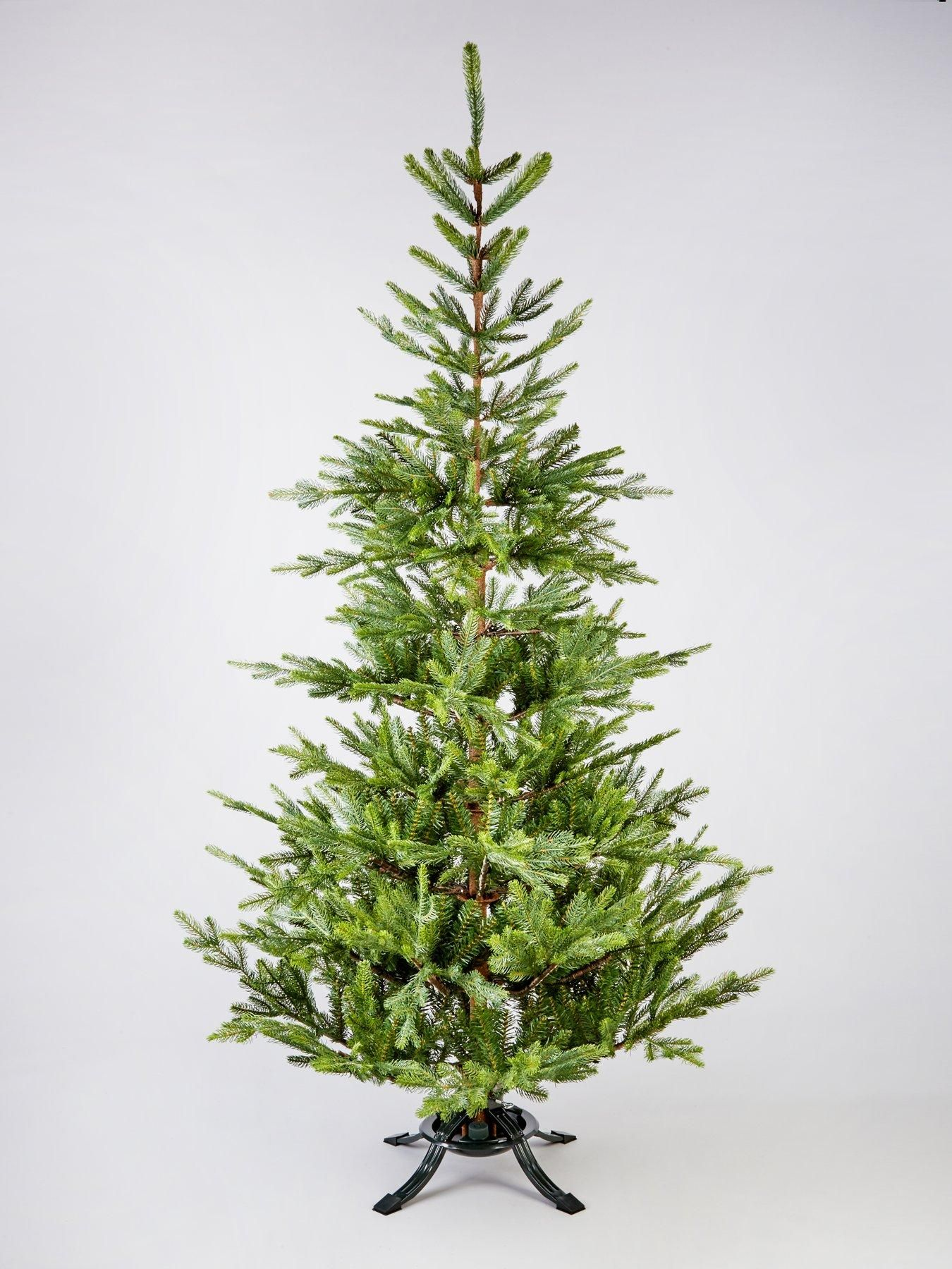 7ft Nordman Memory Wire Real Look Fir Scented Christmas Tree With Free Storage Bag Christmas Tree Bag Storage Old Boxes