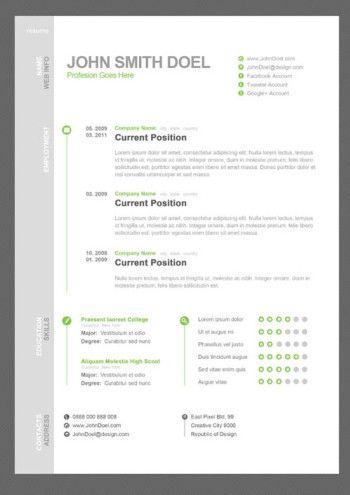 Free Creative Resume Template  Smashfreakz  Cv Formats