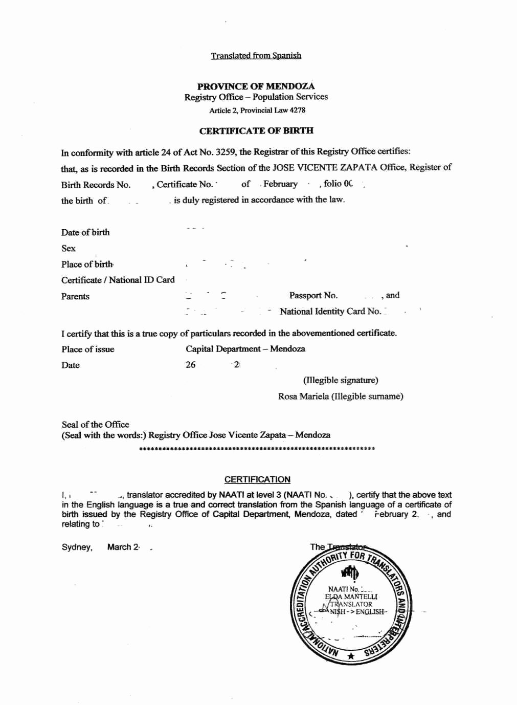 The Inspiring Sample Of Birth Certificate In Malaysia Best Translation Intended For Spanish Birth Certificate Template Birth Certificate Certificate Templates