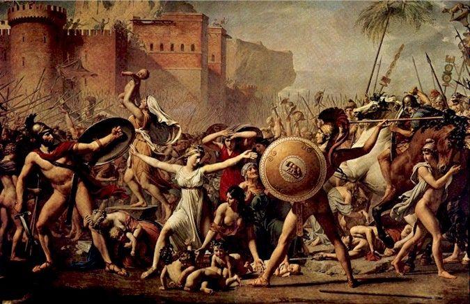 David El Rapto De Las Sabinas Arte Neoclasico Pintura Neoclasica Obras De Arte