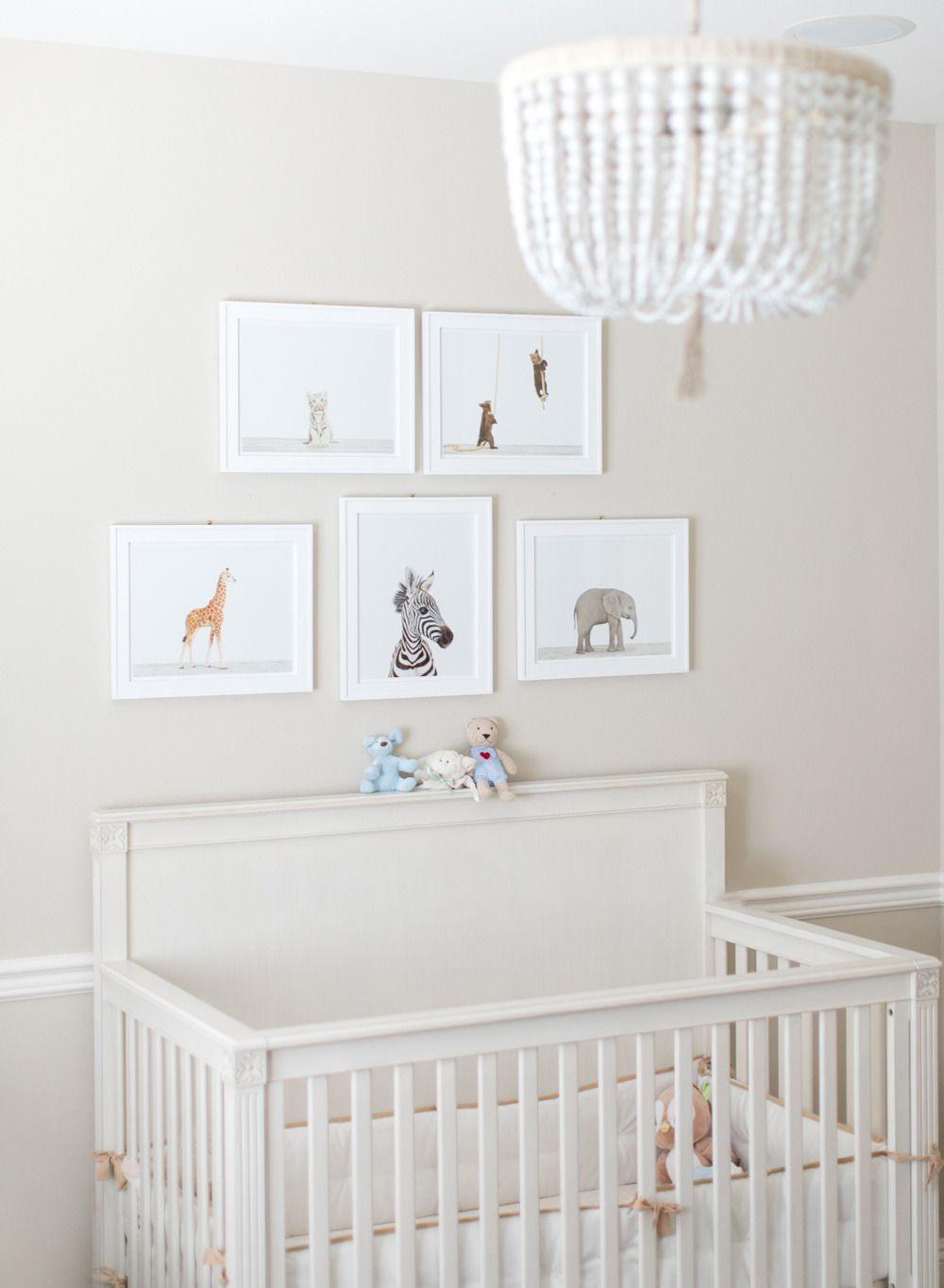 Fresh White Nursery Featuring Our Malibu Chandelier And Mocha Basics Crib Per Serenaandlily
